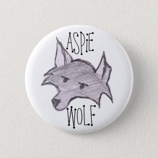 Aspie Wolf Button
