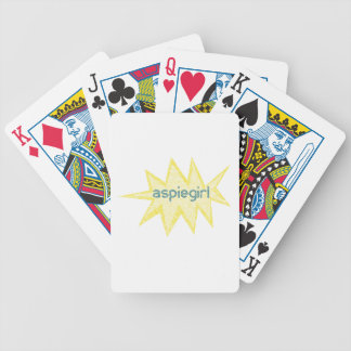 Aspiegirl Woman with Aspergers Bicycle Playing Cards
