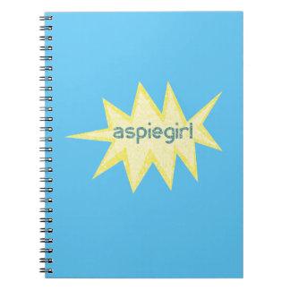Aspiegirl Woman with Aspergers Notebooks