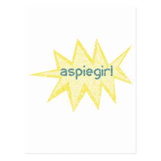 Aspiegirl Woman with Aspergers Postcard