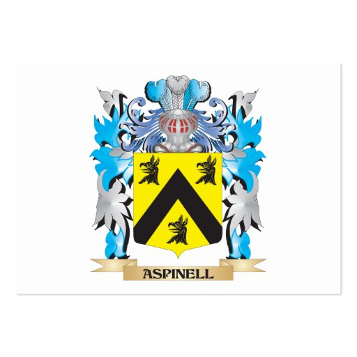 Aspinell Coat Of Arms Business Card