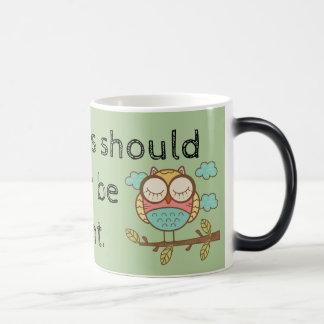 Aspirations Should Never Be Silent - Morphing Mug