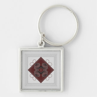 Aspire Square Keychain