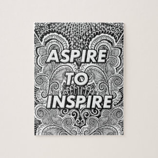 ASPIRE TO INSPIRE - Positive Statement Quote Jigsaw Puzzle