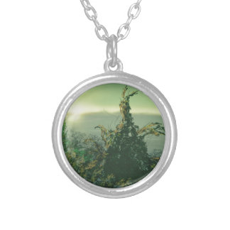 Aspiring Young Tree Silver Plated Necklace