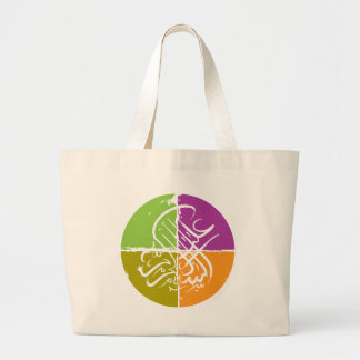 Assalamu 'alaikum - Arabic calligraphy Large Tote Bag