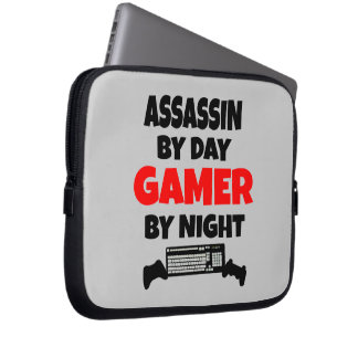 Assassin by Day Gamer by Night Laptop Sleeve