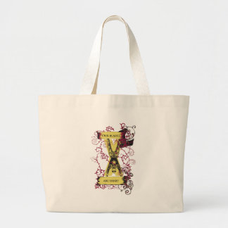 assassin our blades are sharp large tote bag