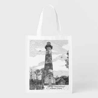 Assateague Island Lighthouse Reusable Grocery Bag