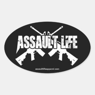 Assault Life - Old School AR Oval Sticker