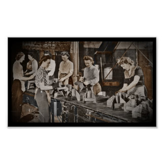 Assembly Munitions Factory Workers  1945 Poster