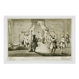 Assembly of Free Masons for the Initiation of a Ma Poster