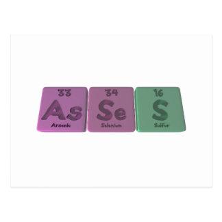 Asses-As-Se-S-Arsenic-Selenium-Sulfur Postcard
