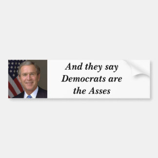 Asses Bumper Sticker