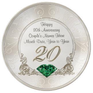Assiette En Porcelaine 20ème plat personnalisé magnifique de cadeaux