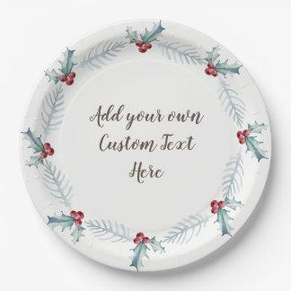 Assiettes En Papier Plaques à papier de Noël, personnalisées par vous