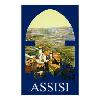 Assisi, Italy travel poster