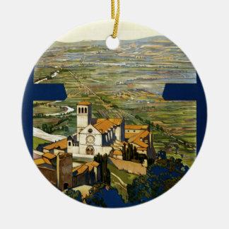 Assisi Round Ceramic Ornament