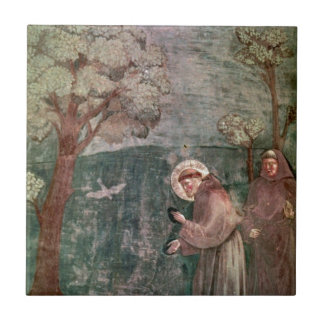 Assisi, St Francis and the birds Tile