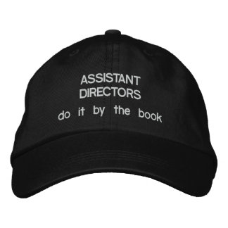 Assistant Directors Do it by the Book Embroidered Hat