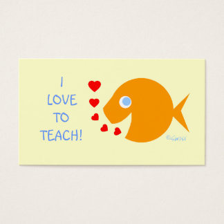 Assistant Elementary Teacher Goldfish Template Business Card