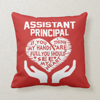Assistant Principal Throw Pillow
