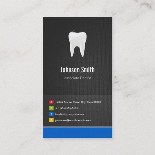 Associate dentist dental creative innovative business card zazzle associate dentist dental creative innovative business card reheart Choice Image