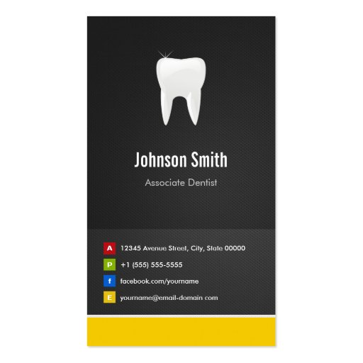 Associate Dentist - Dental Creative Innovative Business Card Templates