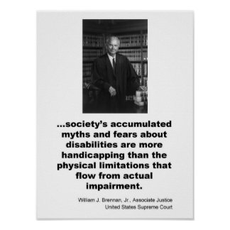 Associate Justice William J. Brennan, Jr. Poster
