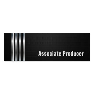 Associate Producer - Black Silver Stripes Pack Of Skinny Business Cards