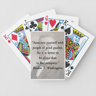 Associate Yourself - Booker T Washington Bicycle Playing Cards