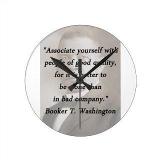 Associate Yourself - Booker T Washington Round Clock