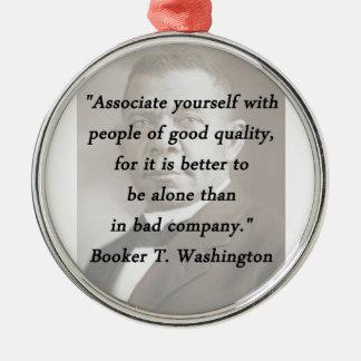 Associate Yourself - Booker T Washington Silver-Colored Round Ornament