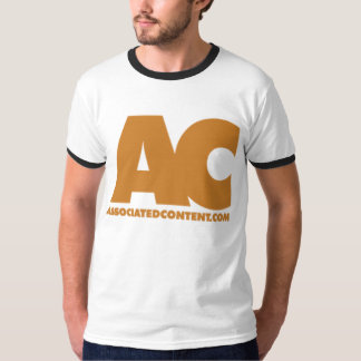 Associated Content White T w/ Black Trim T-Shirt