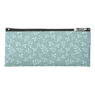 Assorted 2Way Mid & Lt Teal Leaves Ptn Pencil Case