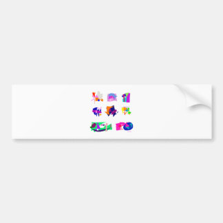 Assorted Abstracts Bumper Sticker