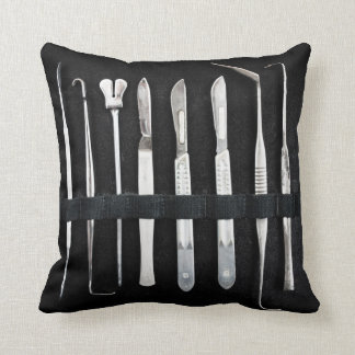 Assorted Antique Embalming Tools Throw Pillow