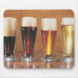 Assorted beers and ales mouse pads