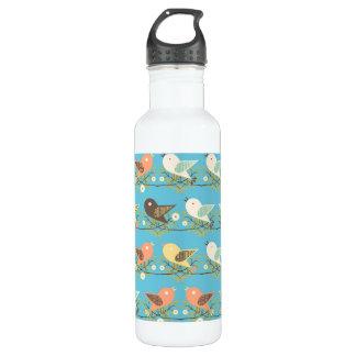 Assorted birds pattern 710 ml water bottle