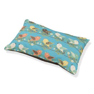 Assorted birds pattern pet bed