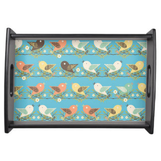 Assorted birds pattern serving tray