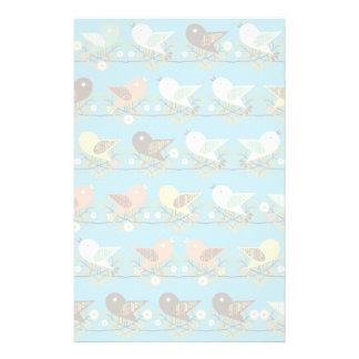 Assorted birds pattern stationery