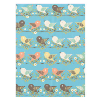 Assorted birds pattern tablecloth