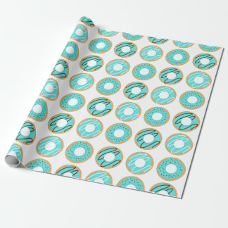 Assorted Blue Donuts Pattern Wrapping Paper