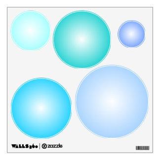 Assorted Bubbles, Blue/Aqua Wall Decals