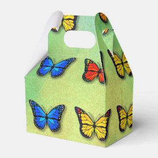 Assorted butterflies pattern favor box