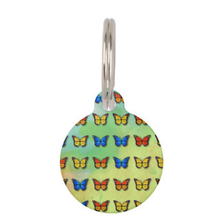 Assorted butterflies pattern pet tag