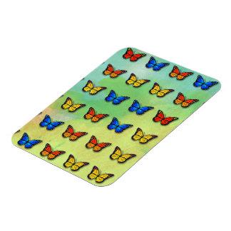 Assorted butterflies pattern rectangular photo magnet