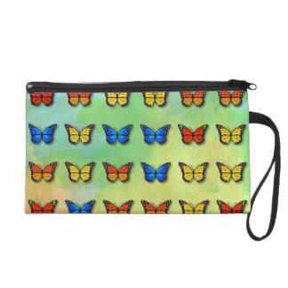 Assorted butterflies pattern wristlet