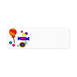 Assorted Candy Return Address Label